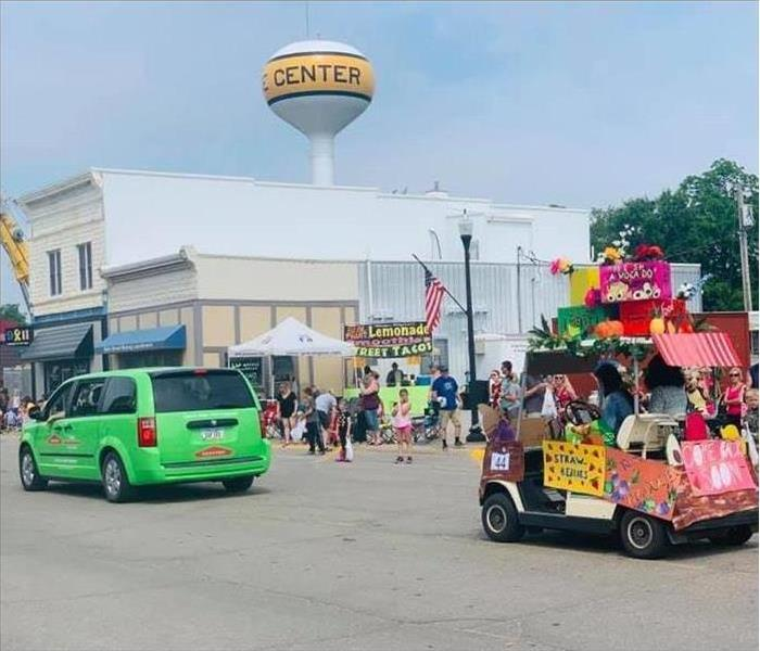 The SERVPRO van at the annual Rose Festival Parade