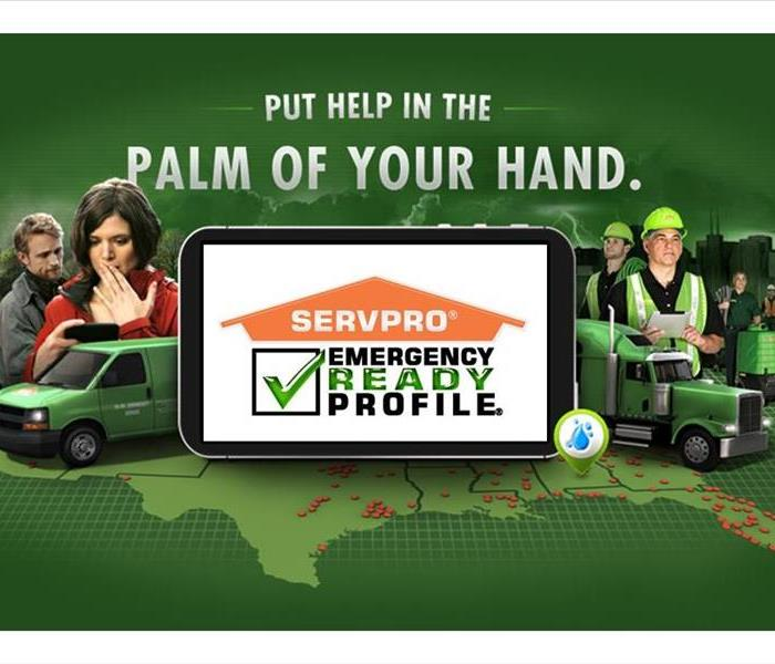 SERVPRO's Emergency Ready Profile app on a mobile phone